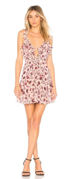 Poppy Mini Dress by For Love & Lemons. Self: 100% polyLining: 97% poly 3% spandex. Dry clean only. Fully lined. Ruffle trim. Hidden back zipper and tie closure. FORL-WD548. CD1641C HO17. Derived from those sun-soaked Lemonade Stand Days designers and owners, Gillian Mahin and... #forlovelemons #dresses