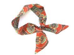 Short Skinny Scarf Neck Scarf Wrist Scarf Purse Scarf Hair #skinnyscarf #scarves #scarf