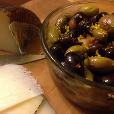 Spicy marinated mixed olives recipe - allthecooks.com