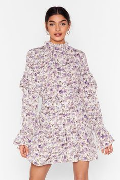 Do you love the variety of fashionable styles ASOS offers & are wondering what other stores are like ASOS? This post is sharing the BEST shops like ASOS. Dress Outfits, Cool Outfits, Smocks, Purple Floral Dress, White Mini Dress, Nasty Gal, Fashion Company, Boho Dress