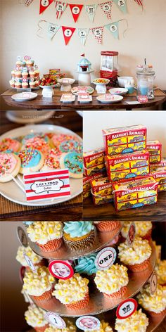 Amazing Vintage Circus 1st Birthday. Could work this into a co-ed baby shower theme!