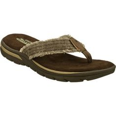 Men's Skechers Relaxed Fit Supreme Bosnia Chocolate - Overstock Shopping - Great Deals on Skechers Sandals