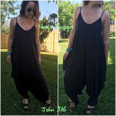 Spaghetti strap jumpsuits Navy harem jumpsuit is beach ready. Price is firm - S (2-6) Pants Jumpsuits & Rompers