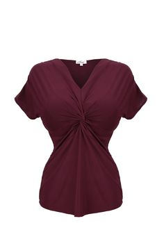 Peplum top for busty women Knot Front Top, Wine Delivery, Professional Women, Wine Drinks, Cool Suits, Work Fashion, Girl Boss, Black Tops, Rompers
