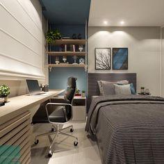 """4c36b5ed16 Lorena Lima    #dicadalores ❥ on Instagram: """"Mais um quarto lindo  desenvolvido pelo Edu Muzzi, lá de BH. Inspiração linda com a paleta de  cores no azul com ..."""