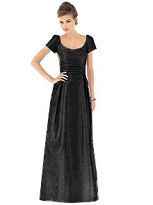 Alfred Sung Style D527 #black #bridesmaid #dress