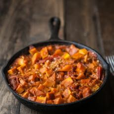 Curried Butternut Squash and Brown Rice Skillet Recipe