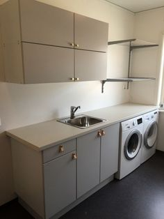 Optimize your small space & learn trick how to organize your dryer sheets, laundry room cabinet & other laundry room essentials Laundry Room Inspiration, Updating House, Bathroom Makeover, Small Room Bedroom, Pantry Laundry, Interior Design Living Room, Laundry Room Design, Bedroom Design, Beige Cabinets