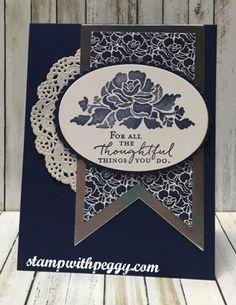 Floral Phrases stamp set, ,floral boutique designer paper, stampwithpeggy.com