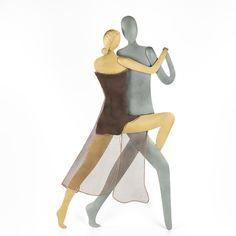 "Tango Couple, Dancing Couple Figurine - Modern, Metal Handmade Wall Art Decor Sculpture 19.7"" (50cm) Tango Dancers, Dancing Couple, Metal Figurines, Love Anniversary, Fabric Gift Bags, Metal Wall Art, Wall Art Decor, Sculpture, Couples"