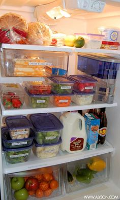 Simple Tips for Organizing & Healthy Eating Freezer Organization, Refrigerator Organization, Kitchen Organization Pantry, Organization Hacks, Kitchen Storage, Household Organization, Healthy Fridge, Healthy Eating, Fridge Storage