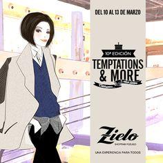 ¡¡Vuelve Temptations & More!! Zielo Shopping Pozuelo te invita del 10 al 13 de marzo de 2016 a la 10ª edición de Zielo Temptations & More, muestra que se ha convertido en una cita ineludible para el público amante de la moda, y que en esta ocasión está dedicada a la moda hecha a mano y a los niños. ¡¡No te lo puedes perder!! #Zielo #TemptatonsandMore #Vintage