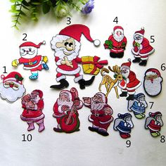 New to craftapplique on Etsy: Christmas patch Santa Claus patch  patches cute Decorative Christmas hat patch Embroidered patch iron on patch sew on patch A153 (1.90 USD)
