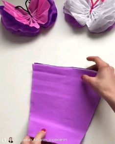 paper butterfly decoration handmade idea paper how to make videos handmade decoration idea Diy Crafts Hacks, Diy Crafts For Gifts, Diy Home Crafts, Crafts For Kids, Paper Flowers Craft, Paper Crafts Origami, Flower Crafts, Crepe Paper Crafts, Crepe Paper Streamers