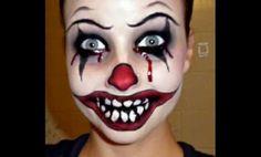 maquillaje payaso diabolico mujer - Buscar con Google