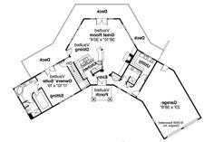 Lodge Style House Plan   Viewcrest 10 536   1st Floor Plan