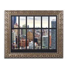 Philippe Hugonnard 'nyc Penthouse' Ornate Framed Art