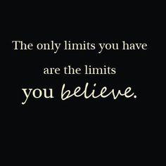 Os únicos limites para o teu Sucesso e para os teus Sonhos são os que colocas a ti próprio!