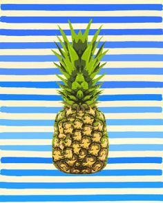 Pineapple print for entryway...can't decide between this and the other...