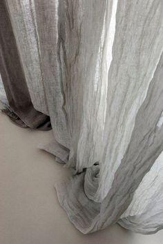 grey muslin curtains