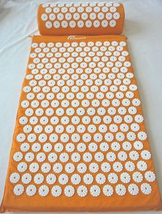 New Orange Acupressure Mat with Pillow Set - Pressure Point Therapy #Prosource