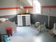 Superbe Chambre Gris Et Orange