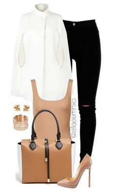 """Caped"" by efiaeemnxo ❤ liked on Polyvore featuring mode, Harrods, Michael Kors, Christian Louboutin, Carolina Bucci, Tiffany & Co., women's clothing, women, female et woman"