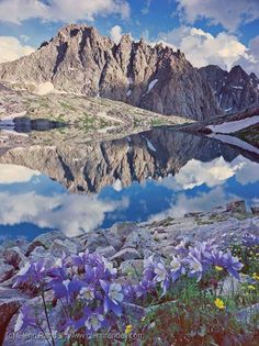 Colorado zagged mountain reflection