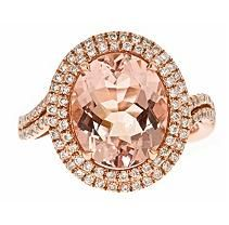 Beautiful Morganite and rose gold ring!