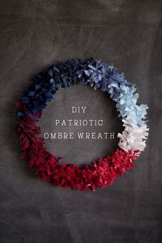 Fourth of July Wreath | DIY Patriotic Wreath by @saracwalk