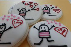 Valentine Cookies   Happy Man in Love. $22.00, via Etsy.