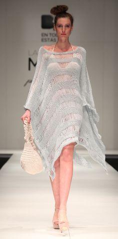 Celestine Poncho handmade, knitwear, cotton with silk
