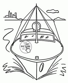 Speed Boat Front Coloring Page For Kids Transportation Pages Printables Free