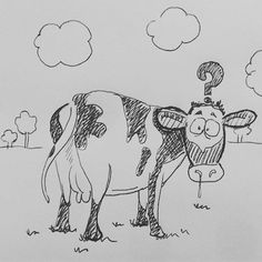 Music Cover parody pt 20 Pink Floyd - Atom Heart Mother WTF Sketching idea for acrylic Paint #PinkFloyd #atonheartmother #thewall #rogerwaters #sidbarret #cow #Lansdscape #parody #country #psichedelic #head #davidgilmour #heidi #vache #whathefuck #cover #coverlp #inktober #inktober2016