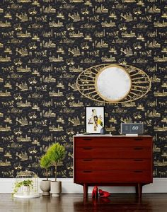 Black Wallpaper  Stylish Patterns For  Apartment Therapy
