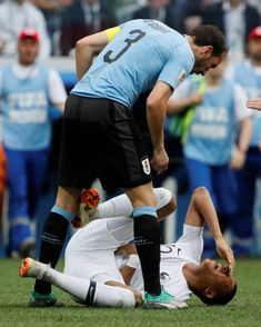 73a66ed05 Diego Godin of Uruguay national team and Kylian Mbappe of France national  team during the 2018 FIFA World Cup Russia Quarter Final match between.
