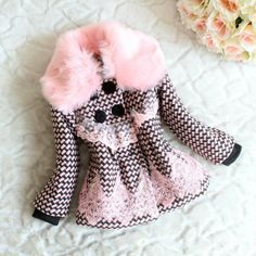 Retail-Beige-Pet-Dogs-Winter-vest-Coat-with-bow-on-neck-<b>Free</b> ...