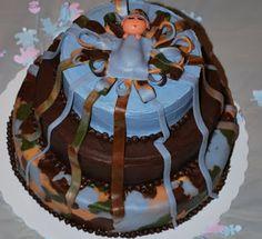 camouflage baby shower   Bietz Workn: Baby Boy Blue in Camo shower cake Camo Diaper Cake, Baby Shower Camo, Camouflage Baby, Camo Baby Stuff, Boy Blue, Shower Cakes, Baby Things, Baby Showers, Classroom Ideas