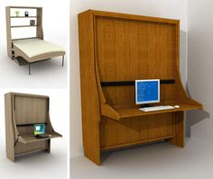 Decorate your room in a new style with murphy bed plans Fold Away Desk, Fold Out Desk, Murphy Bed Desk, Murphy Bed Plans, Desk Bed, Wall Mounted Desk Folding, Dream Desk, Messy Desk, Modern Murphy Beds