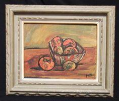 小西安夫作「静物」 1956年 6号 油絵_画像1