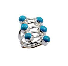 aesthetic Turquoise 925 Sterling  Turquoise Ring gemstones L-1in US 5678