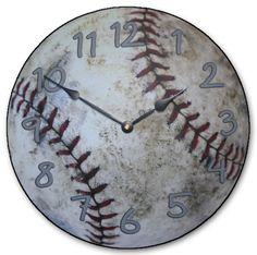 Baseball+Clock+by+TheBigClockStore+on+Etsy,+$29.00