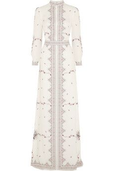 Vilshenko Florence printed silk-crepe gown | NET-A-PORTER