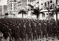 Corpo Truppe Volontarie defiluje w Barcelonie, luty 1939 r. World History Facts, Spanish War, German Army, World War Ii, Wwii, Spain, 1, Military, Pictures