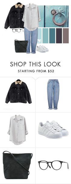 """""""19.05.2017"""" by klorikon00 on Polyvore featuring мода, Topshop, adidas Originals, Rick Owens и Oliver Peoples"""