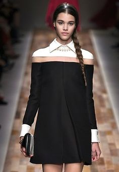 Valentino f/w 2013. What is that? Organza between the top and bottom pieces?