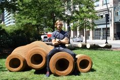 Design Biennial Boston installation displays the life cycle of wood