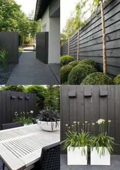 7 Eye-Opening Cool Tips: Vintage Garden Fence garden fencing.Front Yard Fencing For Dogs black fence country. Black Garden Fence, Garden Fencing, Black Fence, Green Fence, Garden Path, Green Garden, White Fence, Backyard Fences, Backyard Landscaping