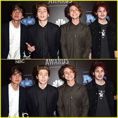 5 Seconds of Summer make their appearance on the red carpet while attending the 2014 People Magazine Awards at The ...