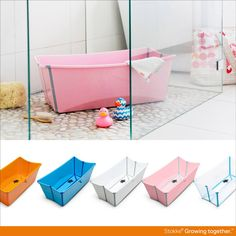 1 amazing bath in five amazing colors! Stokke Flexi Bath for Baby and Kids